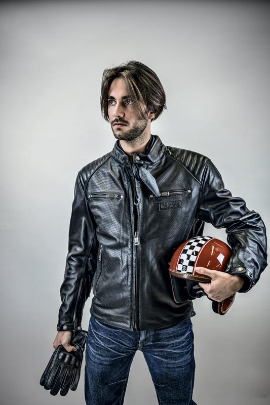 blouson helstons classico cuir perfore 2020