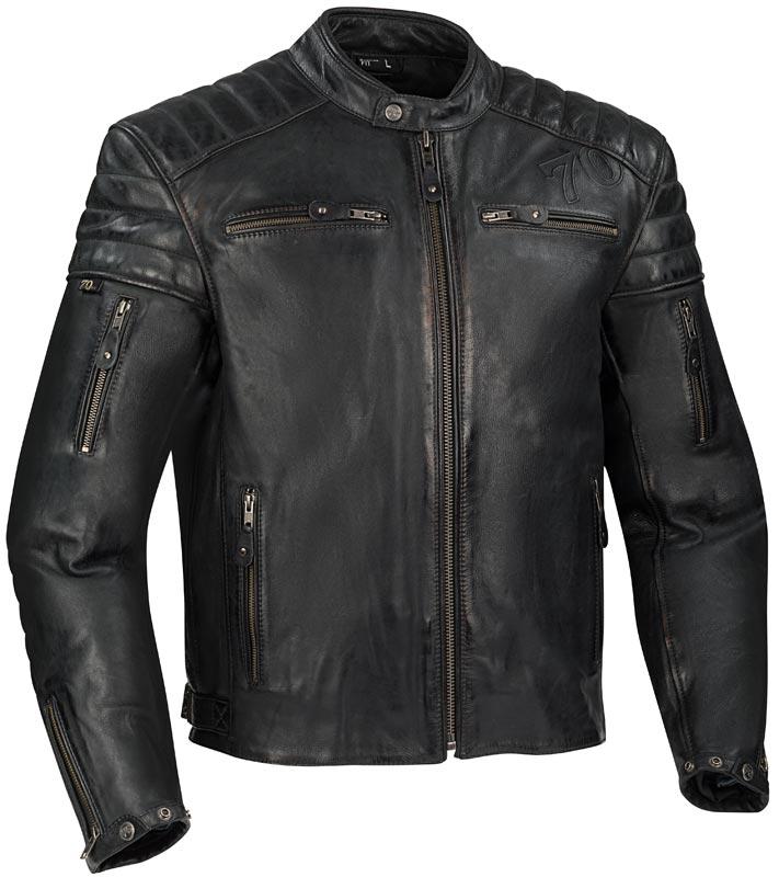 blouson segura remo noir cuir biker homme 2020