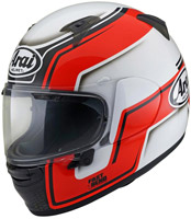 casque arai profile v bend red integral moto blanc et rouge 2020
