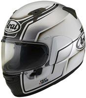 casque arai profile v bend white integral moto blanc et noir 2020