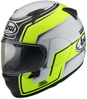 casque arai profile v bend yellow 2020