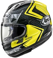 casque arai rx7 v dyno fluor yellow 2020