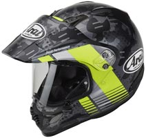 casque arai tour x 4 cover fluor yellow matt 2020